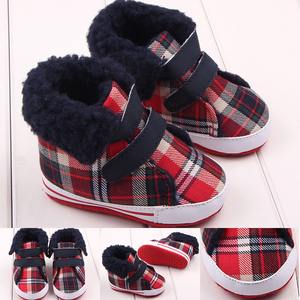 New arrival canvas warm baby winter sport shoes