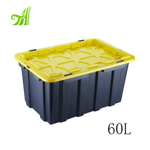 Custom Hard Plastic Stackable Home Storage Box With Hinged Lid Suitable For Cloth