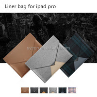 Hot New Products for 2016 Liner Bag Pouch Leather Wallet Case for Ipad Pro