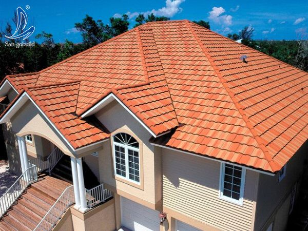 Wholesale Price New Roofing Designs Polycarbonate Stone Coated Metal Roofing  Sheet To Zambia Bangladesh Nigeria Africa