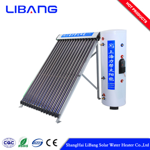 Elegant shape solar heat pipe water heater split