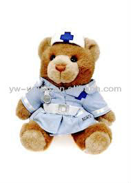 2013 New Fashion Hospital Nurse Toy Teddy Bear / soft plush doctor teddy bear