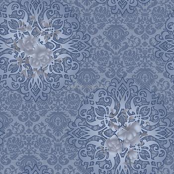 Blue Color Background Bathroom Vinyl Italian Wallpaper Buy Blue