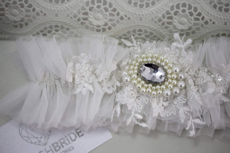 Wedding Garter Ivory, Tulle Ivory Wedding Garter, Bridal Garter, Ivory Garter, Bridal Garters, Tulle Bridal Garter, Tulle Bridal Garter