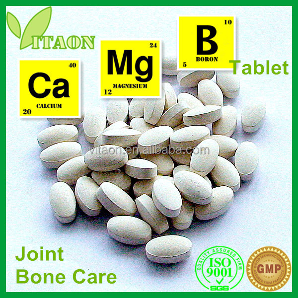 1800 Mg ISO GMP Certificate and OEM Private Label Calcium Carbonate and Boron and Magnesium Oxide Tablet
