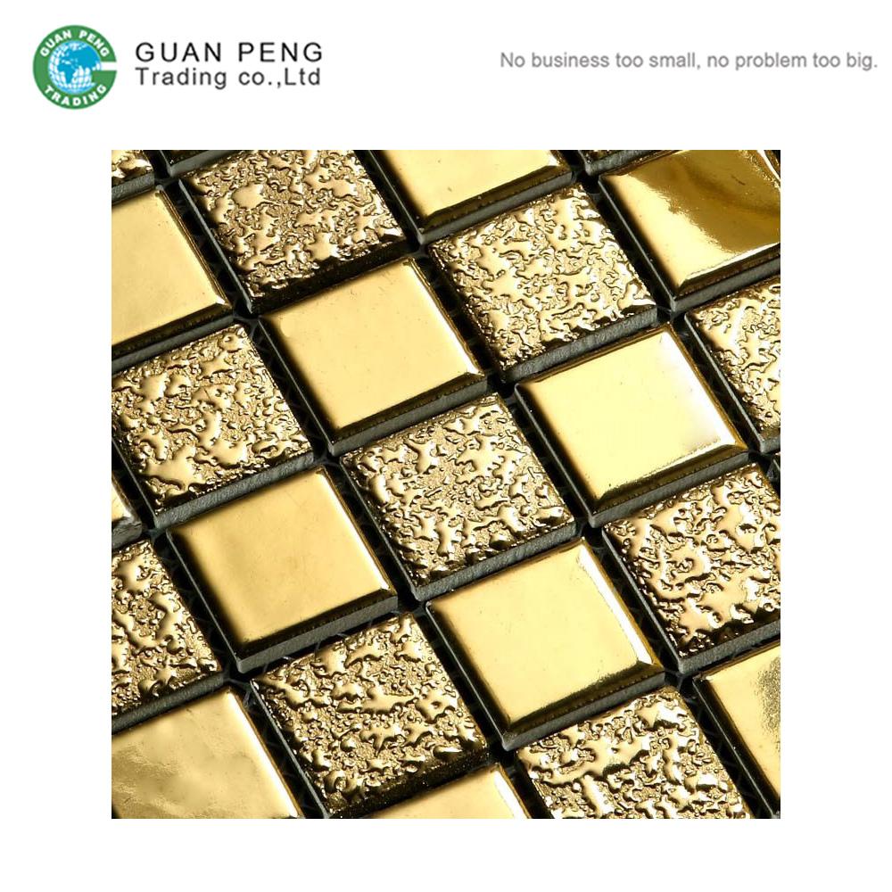 Gold Leaf Mosaic Tile Wholesale, Mosaic Tile Suppliers - Alibaba