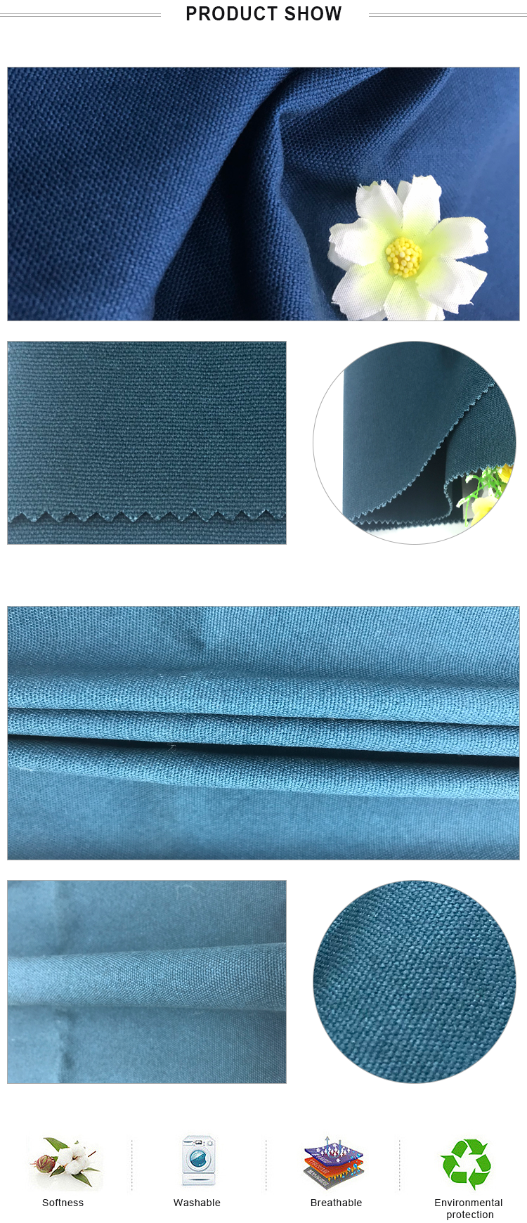 professional textile supplier woven 12oz cotton canvas fabric with harmless and breathable material
