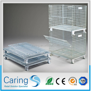 foldable steel wire mesh container on sale