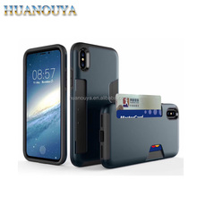 Armor bumper hybrid phone cover TPU+PC case for iPhone X, for iPhone X heavy duty case with card slot