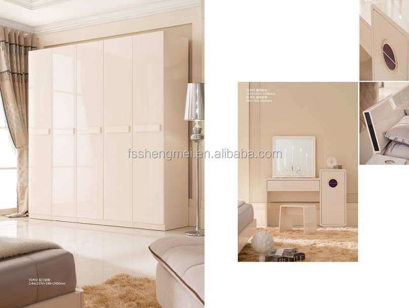Adjustable Mdf Rose Design Modern Closets Wardrobe