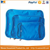 hot sale blue 3 piece travel organizer set for clothes