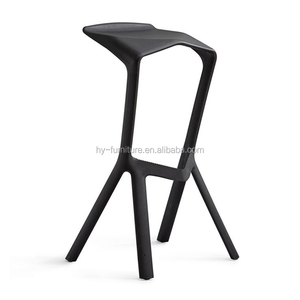 Outdoor furniture high plastic coffee bar chair with footrest , HYX-602