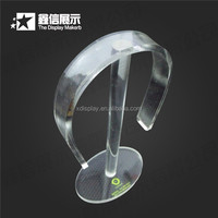 Retail store wholesale transparent acrylic earphone display holder,headset stand,headset display holder