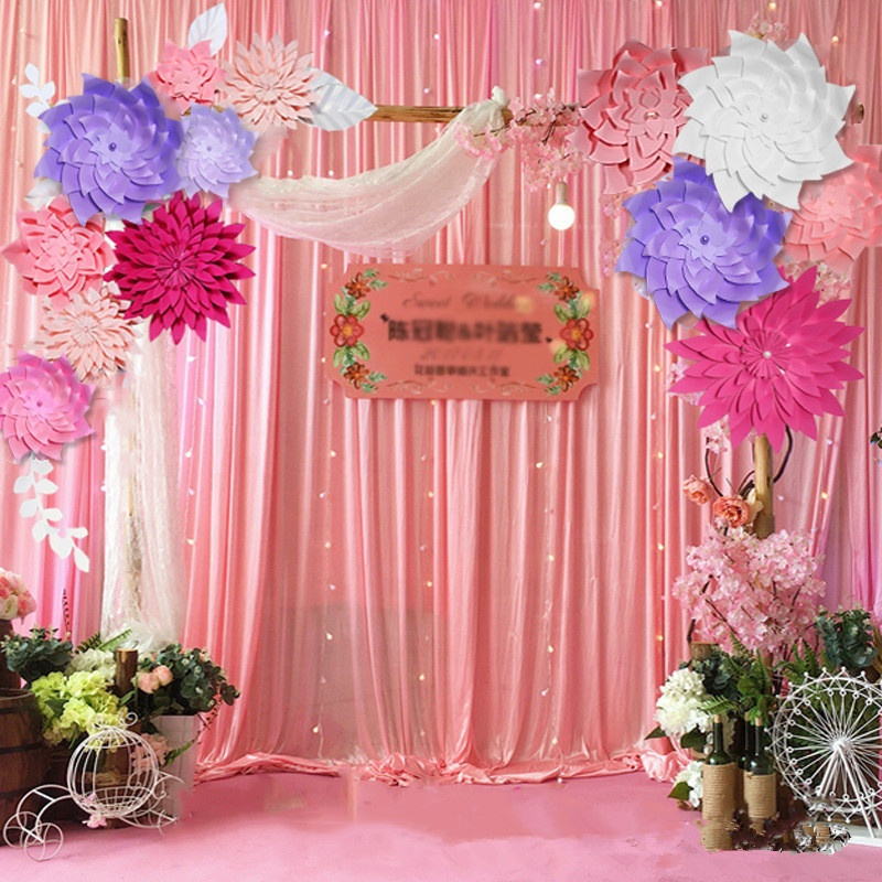 Mutil Color Wedding Table Centerpieces Flower Wall Backdrop Wedding Decor Party Decor Tissue Paper Artificial Flowers Buy Artificial Flower For Wall