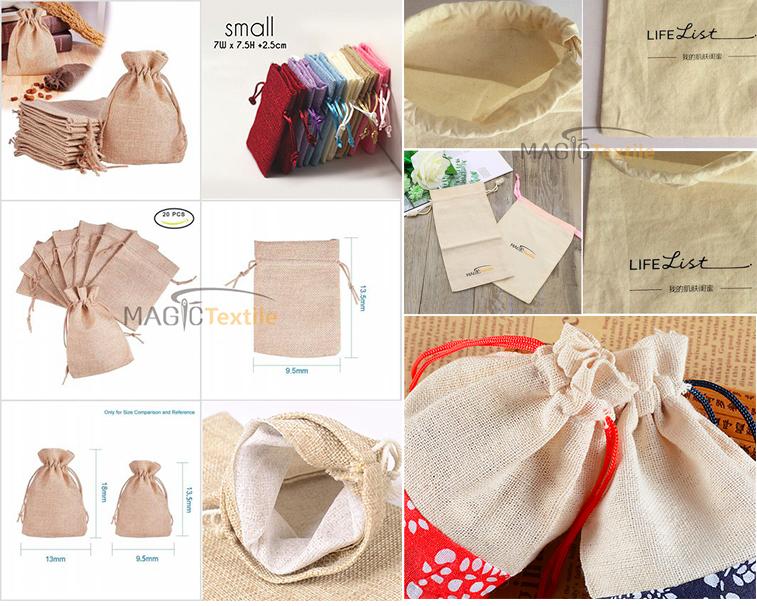 Toptan doğal pamuk depolama çamaşır Favor tutucu moda takı torbalar hediye ayakkabı kanvas ipli çanta