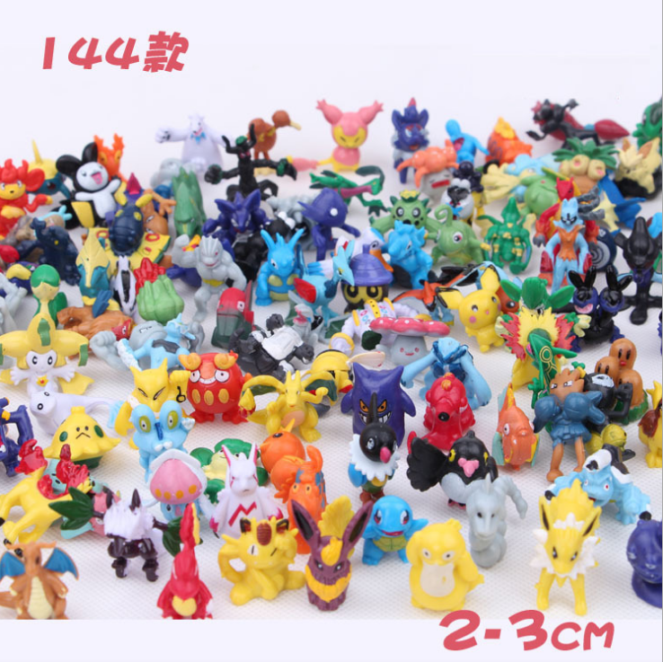 144pcs/set Monster Mini Action Figure Cartoon <strong>Toy</strong> 2-3cm Randomly Wholesales