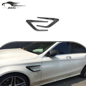Carbon fiber Front Fender Vents Trims for Mercedes Ben z C-Class W205 C63 AMG sedan 2015-2017