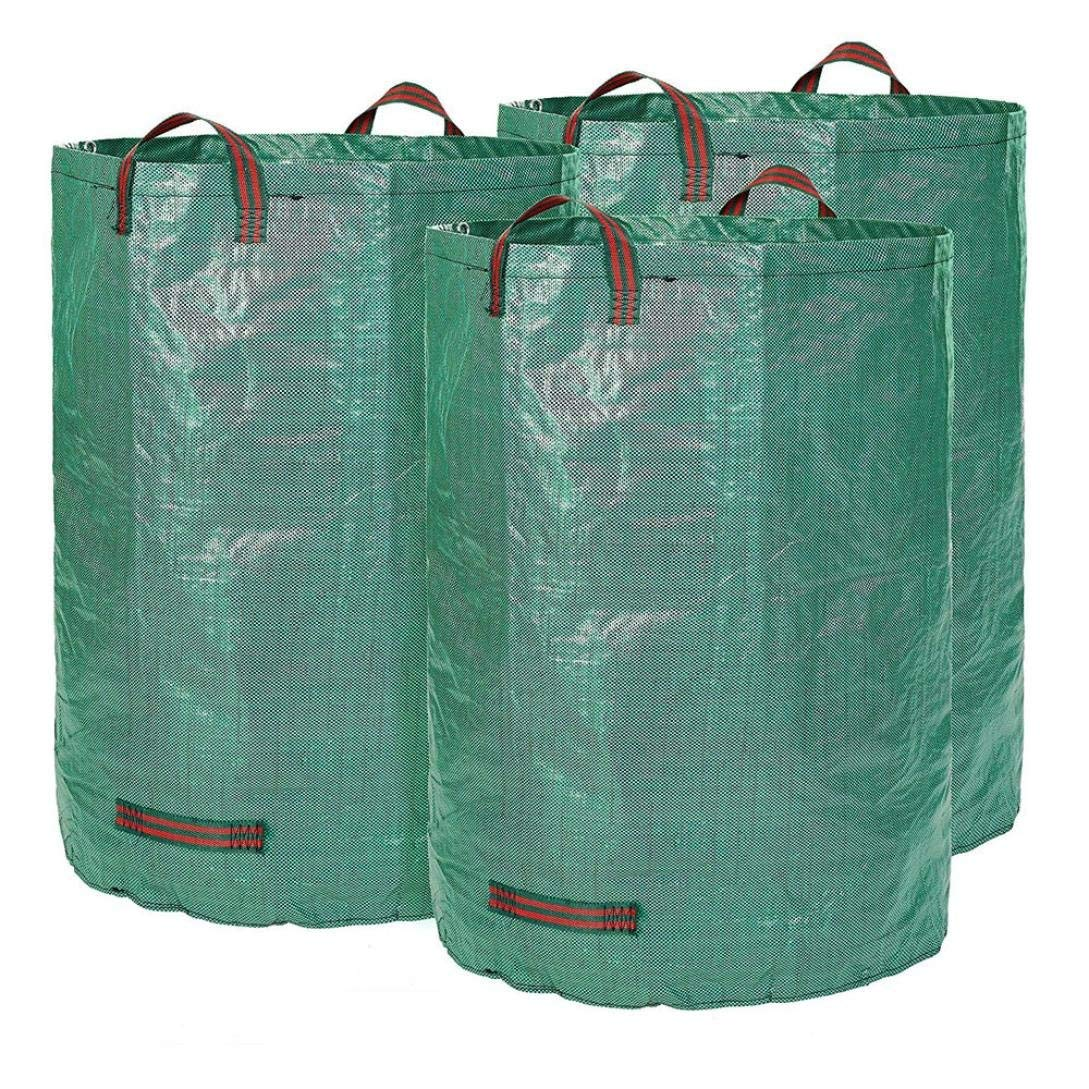 Get Quotations Pausseo 3 Pack Garden Bag Reusable Yard Waste 120l Capacity