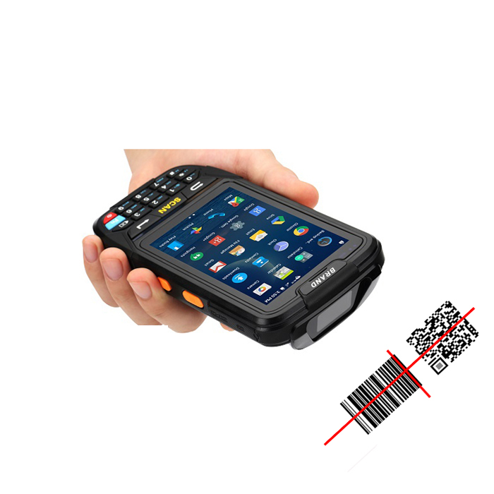 4.0 pollici Touch Screen Android Scanner di Codici A Barre 1D 2D QR Laser Scanner di Codici a Barre rfid uhf mobile reader wireless robusto tablet Pda
