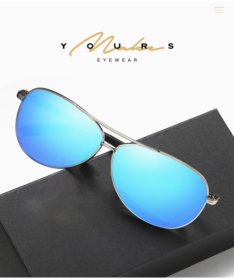 Fuqian polarized white frame sunglasses mens for business for men-7