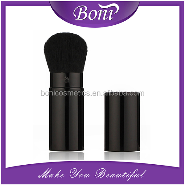 2016 New arrival lowest wholesales price synthetic hair makeup retractable kabuki brush powder brush blusher brush