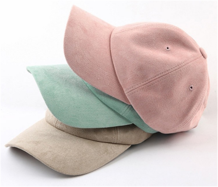 Plain 6 panel Suede dad <strong>hats</strong> wholesale