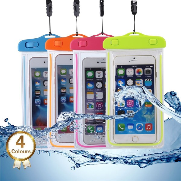 hot luminous universal pvc waterproof dry bag case for iphone 6 case