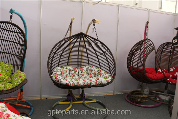 Rattan Double Stand Swing Chair Wicker Hanging Chair Egg Chair