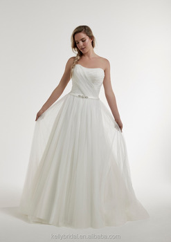 Zm16146 Pleated Chiffon A Line Wedding Dresses With Sweetheart ...