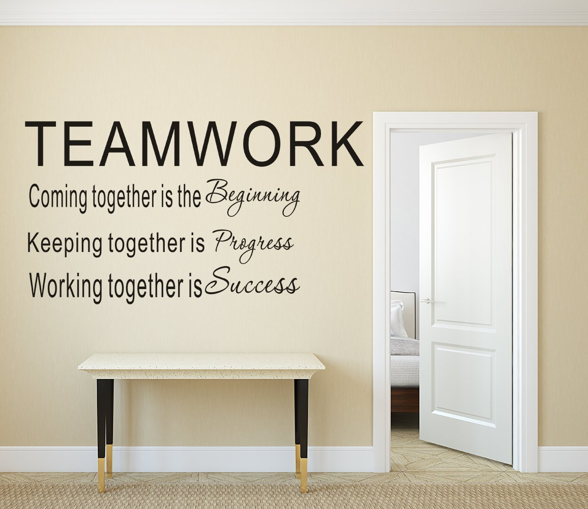 Get Quotations · LUCKKYY Large Teamwork Definition Office Vinyl Wall Decals  Quotes Sayings Words Art Decor Lettering Vinyl Wall