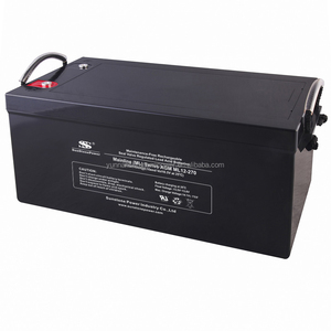 Long life 270AH rechargeable agm sealed 12v deep cycle battery