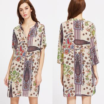 large discount stylish design discount collection Uk Boohoo Style Clothing Women Ethnic Print Shirt V Neck Dress - Buy Tribal  Print Dresses,V Neck Dress,Enthnic Dress Product on Alibaba.com