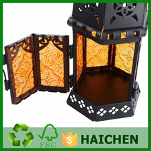 High Quality Glass Lantern Metal Exotic Moroccan Delight Garden Candle Holder Table/Hanging Lantern indoors and outdoors