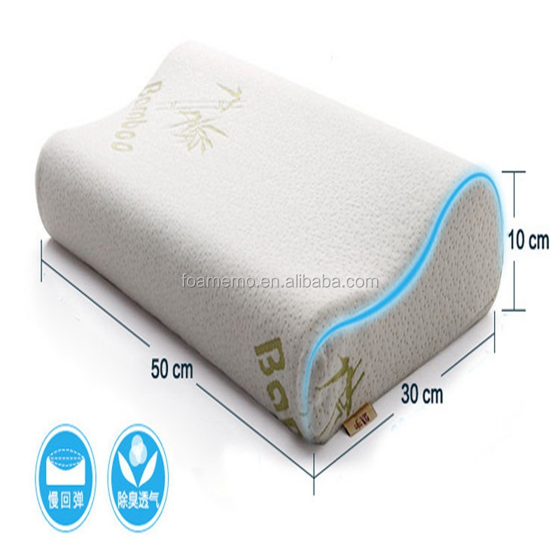 Health Care Memory Foam Massage Neck Roll Hotel Pillow