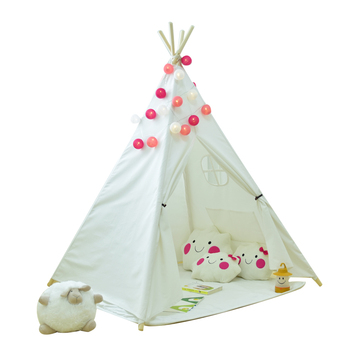 Cotton Canvas Teepee Tent Kids,Teepee,Kids Play Indian Tent,Wooden Pole  Tipi - Buy Canvas Teepee Tent,Kids Play Tent Indoor,Play Tent Tunnel  Product