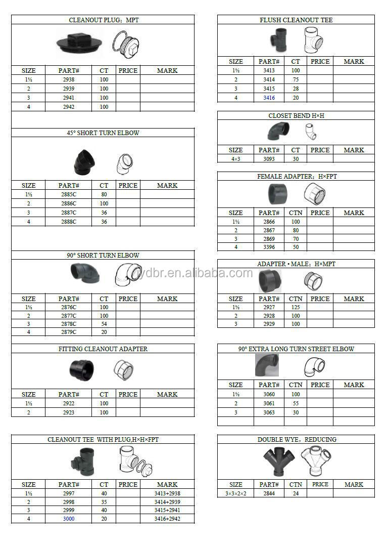 Bathroom accessories names - Names Pipe Fittings 6 Inch Sanitary Tee For Sewer Pipes Compression Fittings Plumbing Materials Wholesale