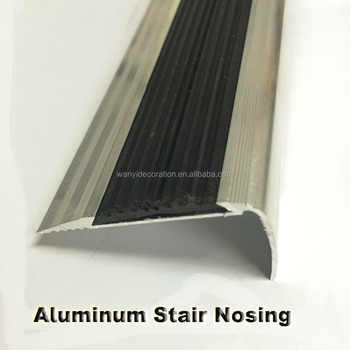 Aluminum And Rubber Stair Nose Tile Edging Trim