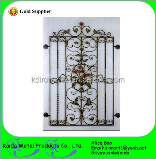 Whoelsale simple wrought iron window grill low price with for Window design pakistan