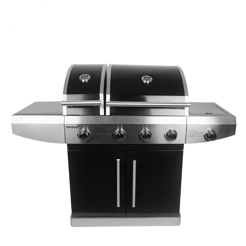Professional Double Lid Weber Lp Gas Grill Bbq With Ce Csa