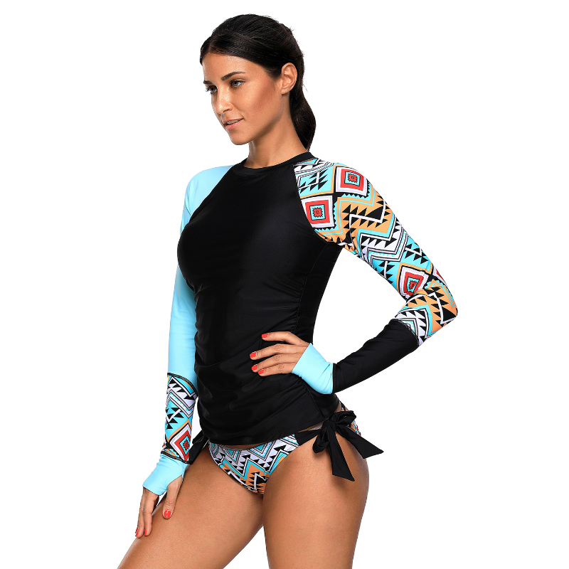 Wholesale high quality beachwear long sleeve quick dry UV protective surfing shirt top women wear