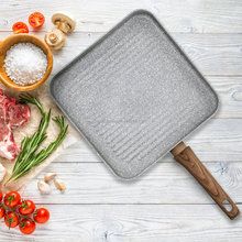 11'' Beyondpan Aluminum Grey Marble Non-stick Coated Griddle &grill pan 28CM With Soft Touch Handle