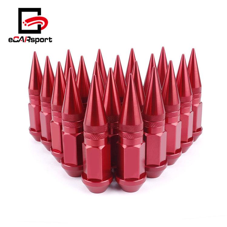 M12 x 1.5MM Thread Lightweight 7075 Aluminum Lug Nuts For Toyota Orange 50mm Set