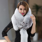 Whole skin natural blue fox fur cape real fox fur shawl ladies fur scarf