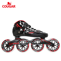 New arrival pu wheels professional roller speed 100/110mm stock inline carbon fiber speed skates