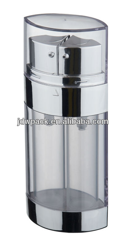 10ml*2, 15ml*2 dual chamber plastic bottle,cosmetic acrylic airless lotion bottle