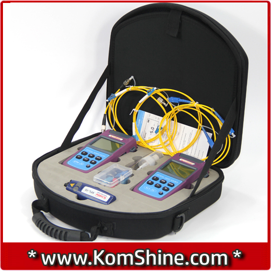 KLT-25M Fiber Testing Kit/Optic Fiber Loss Tester OPM + OLS VFL 1mw 10km