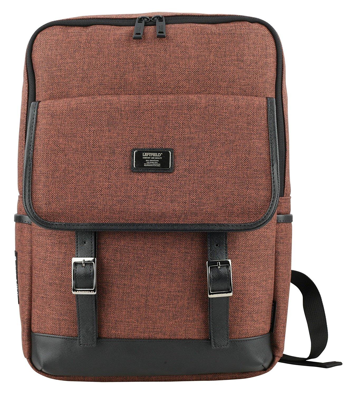 Mens Canvas Satchel School Casual Backpacks Unisex Korean Style Bags  Brown  8b2dac470bf39