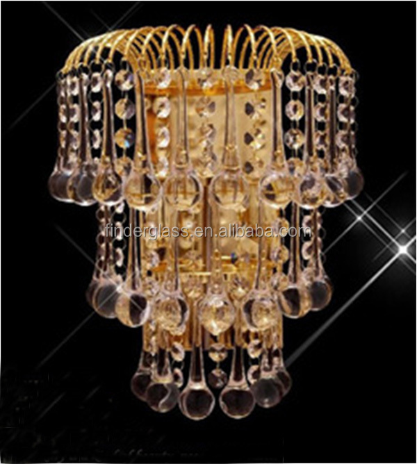 modern cognac wall lamp crystal wall chandelier