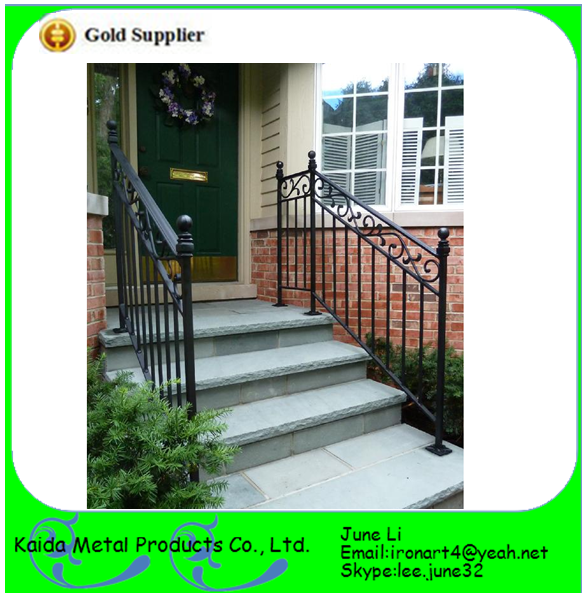 Lowes Modern Wrought Iron Outdoor Metal Handrails For