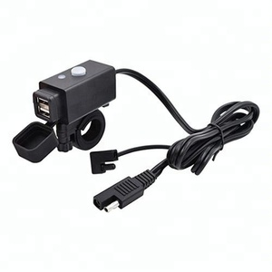 Waterproof Motorcycle USB Charger Adapter with SAE Quick Connector and Power Switch 5V Smart Charging Power Port